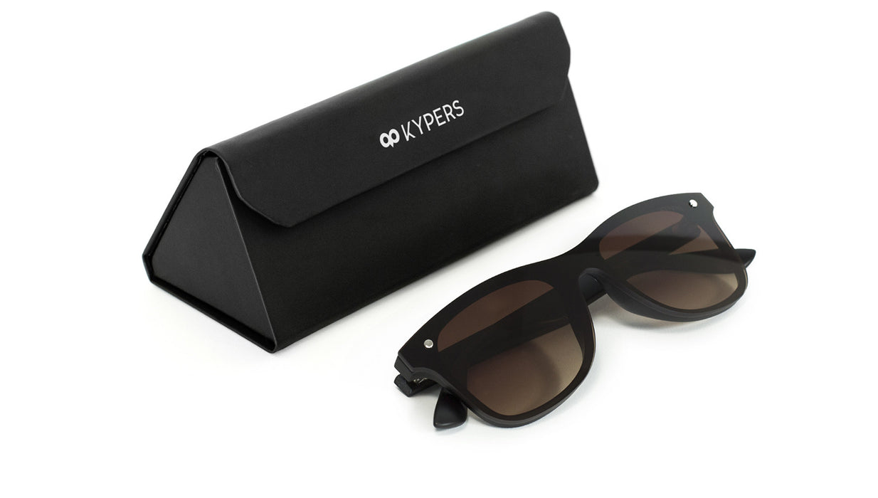 KYPERS sunglasses model FRANK FK003 with black frame and gradient green lens