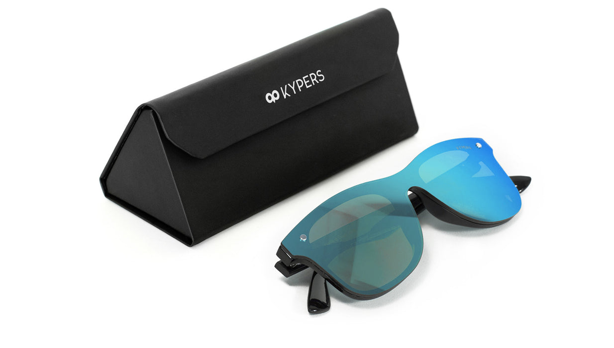 KYPERS sunglasses model FRANK FK006 with black frame and dark gold mirror lens