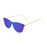 ocean sunglasses KRNglasses model GENOVA SKU 23.25 with transparent white frame and pink mirror lens