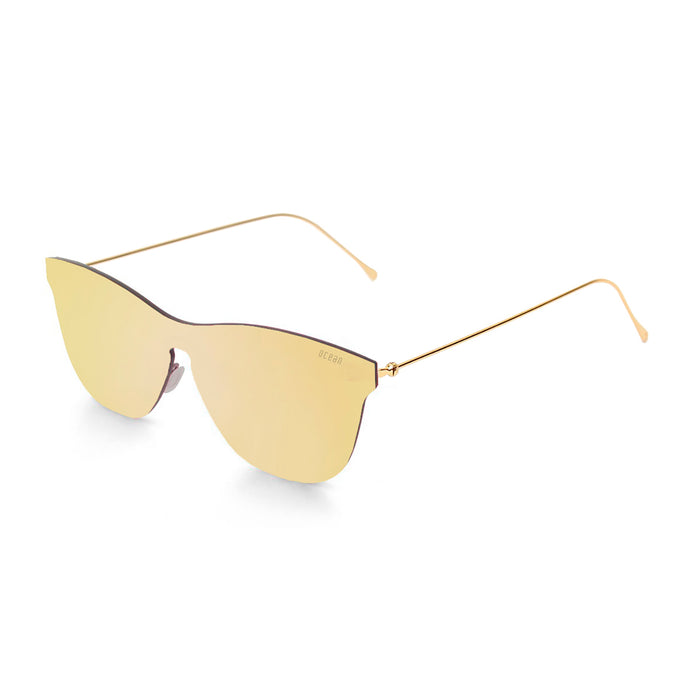 ocean sunglasses KRNglasses model GENOVA SKU 23.5 with space gold frame and space gold lens
