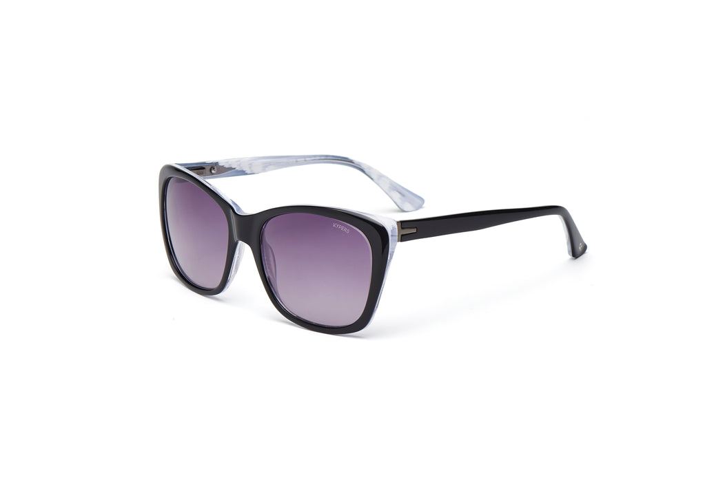 KYPERS sunglasses model GRETA GT004 with black frame and grey degrade lens