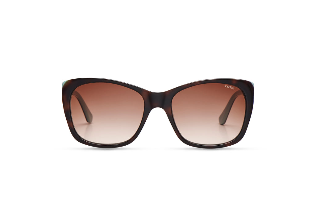 KYPERS sunglasses model GRETA GT005 with pearl pink frame and brown degrade lens
