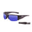 Ocean sunglasses model guadalupe 3500.2 with shiny white frame and smoke lens polarized eyewear for water sports
