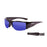 Ocean sunglasses model guadalupe 3501.2 with shiny white frame and revo blue lens polarized eyewear for water sports