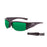 Ocean sunglasses model guadalupe 3500.5 with matte red frame and smoke lens polarized eyewear for water sports