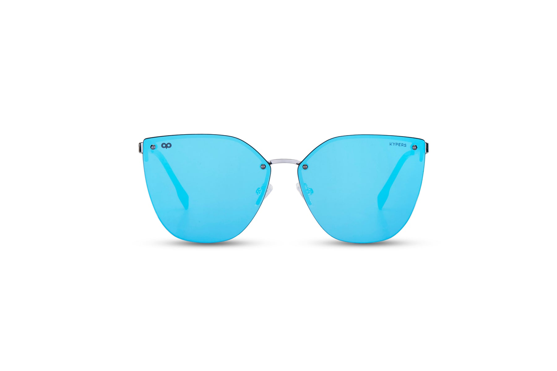 KYPERS sunglasses model GUANTER GU001.S with silver frame and blue lens