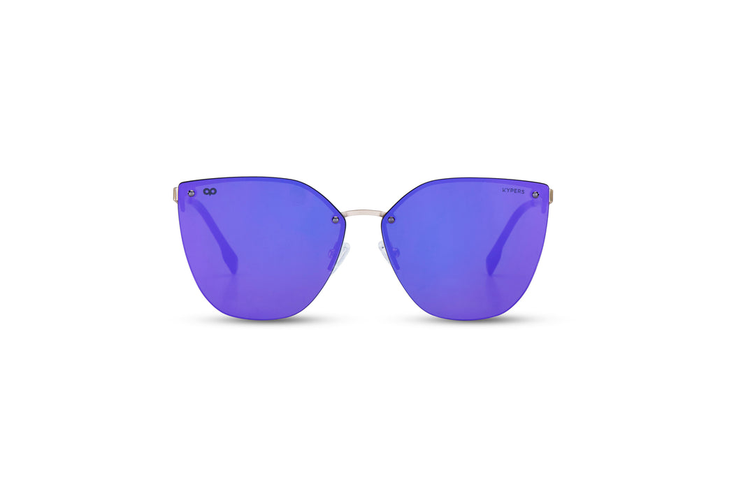 KYPERS sunglasses model GUANTER GU003.S with gold frame and purple lens