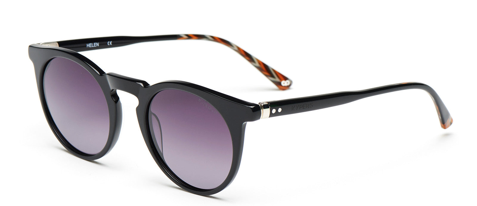 KYPERS sunglasses model HELEN HE002S with black frame and blue mirror lens