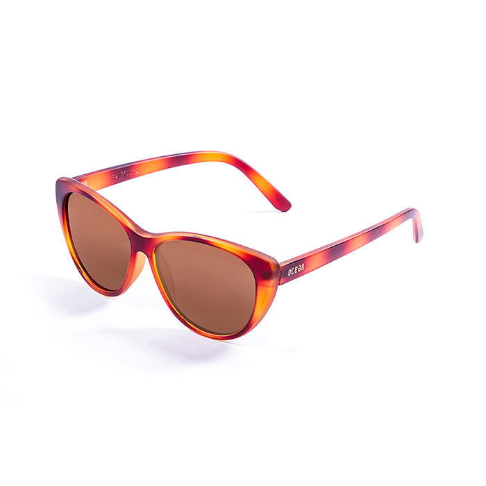ocean sunglasses KRNglasses model HENDAYA SKU 57000.3 with demy red brown frame and smoke lens