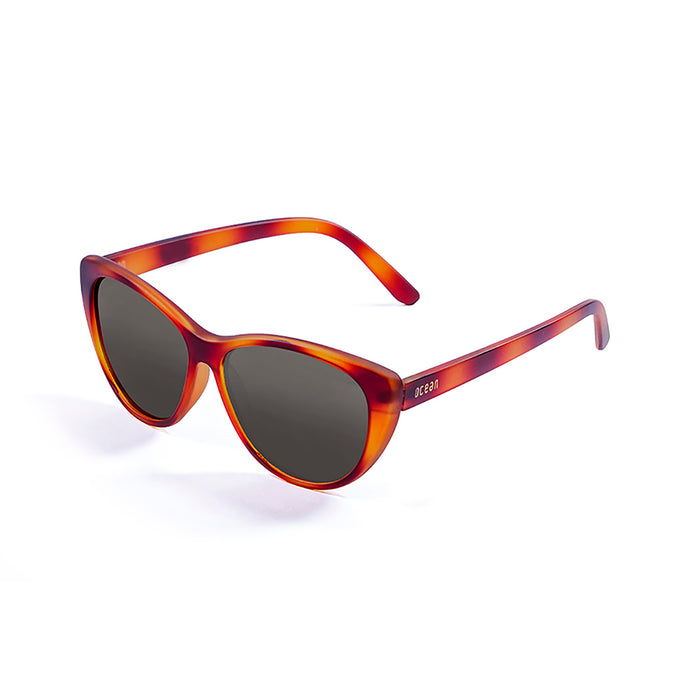 ocean sunglasses KRNglasses model HENDAYA SKU 57000.2 with demy orange brown frame and smoke lens