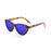 ocean sunglasses KRNglasses model HENDAYA SKU 57000.1 with purple transparent frame and smoke lens