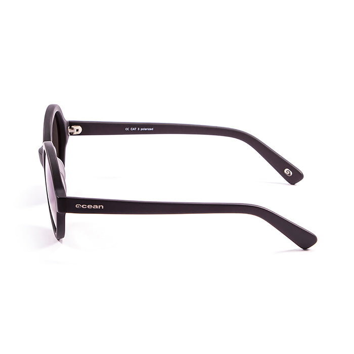 ocean sunglasses KRNglasses model JAPAN SKU 4001.8 with shiny coffee frame and revo blue lens