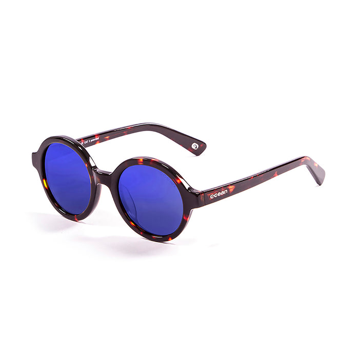 ocean sunglasses KRNglasses model JAPAN SKU 4000.7 with shiny coffee frame and smoke lens