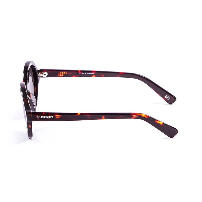 ocean sunglasses KRNglasses model JAPAN SKU 4000.6 with shiny white frame and smoke lens