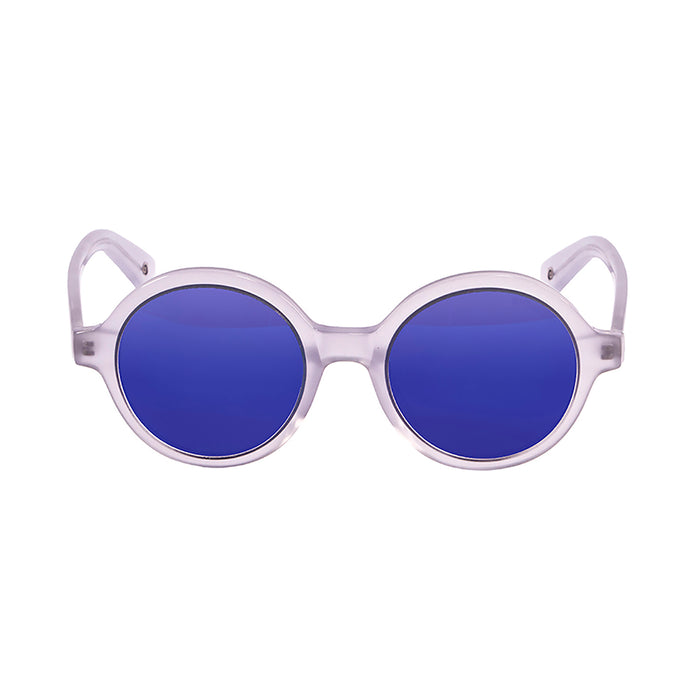 ocean sunglasses KRNglasses model JAPAN SKU 4001.5 with white frame and blue lens