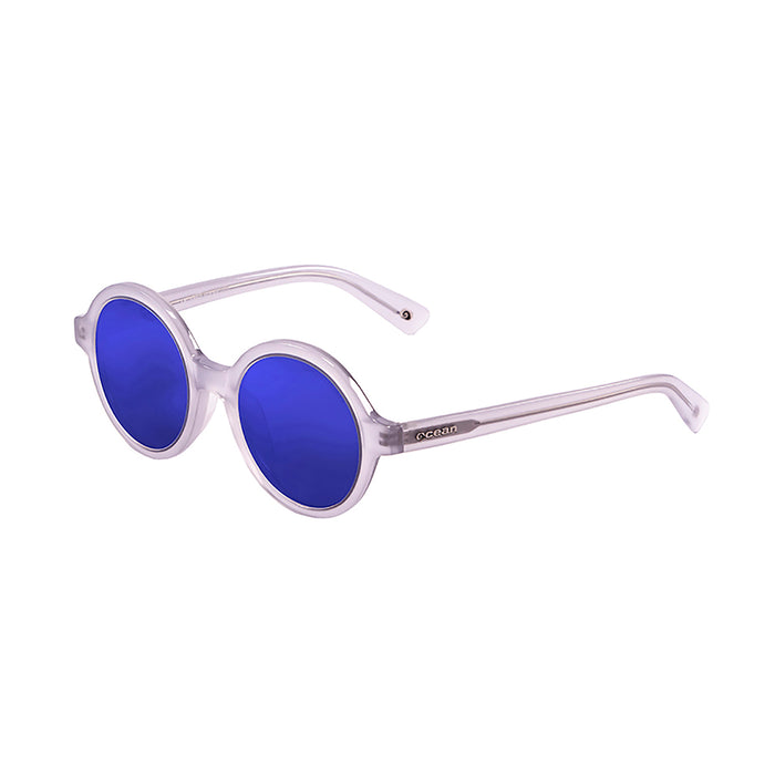 ocean sunglasses KRNglasses model JAPAN SKU 4001.4 with demy brown frame and revo blue lens