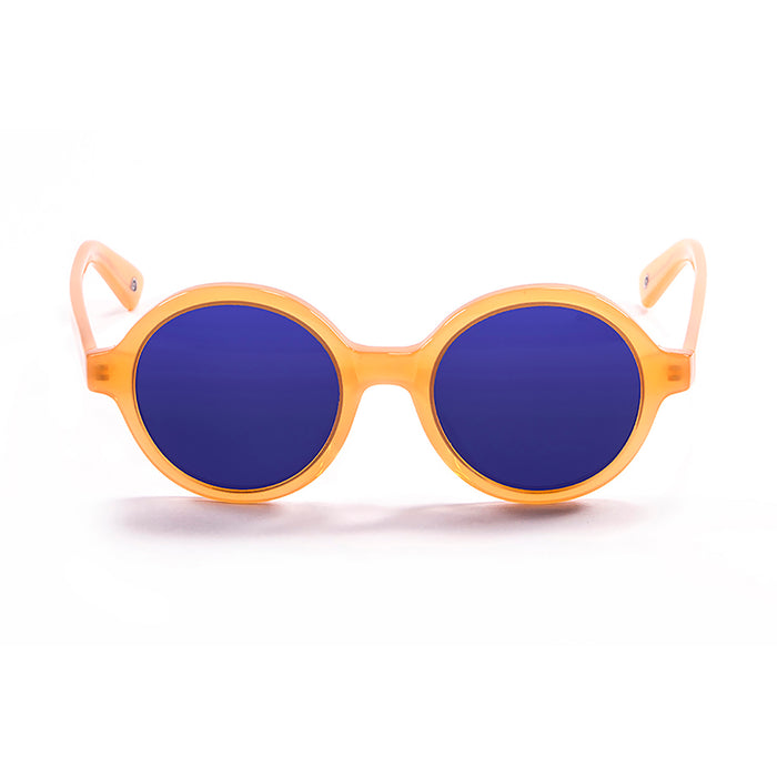 ocean sunglasses KRNglasses model JAPAN SKU 4001.2 with matte black frame and revo blue lens