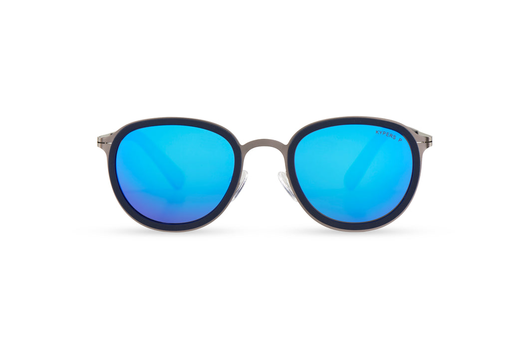 KYPERS sunglasses model JOSSIE JI007 with navy blue frame and gradient blue lens