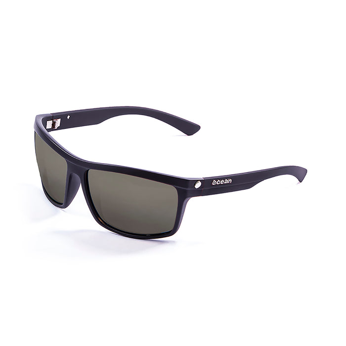 ocean sunglasses KRNglasses model JOHN SKU 20000.3 with matte black & blue frame and revo lens
