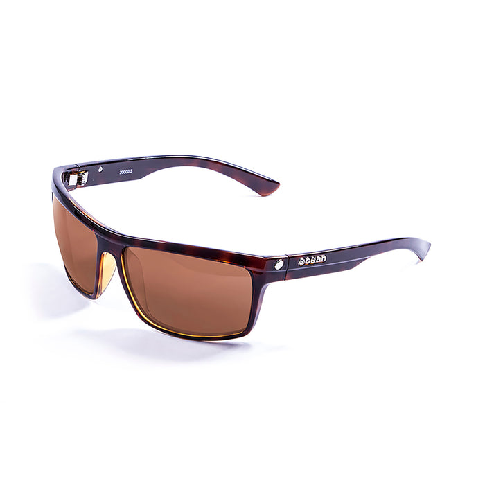 ocean sunglasses KRNglasses model JOHN SKU 20000.2 with matte black & red frame and revo lens