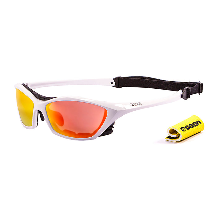 Ocean sunglasses model lake garda with frame and lens polarized eyewear for kiteboarding and surfing