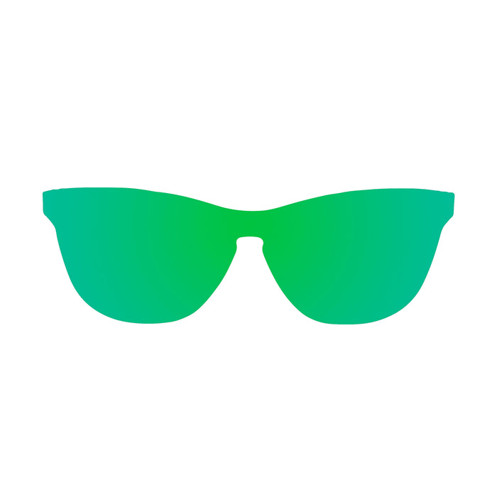 ocean sunglasses KRNglasses model LA SKU 25.1N with space light blue frame and space light blue lens