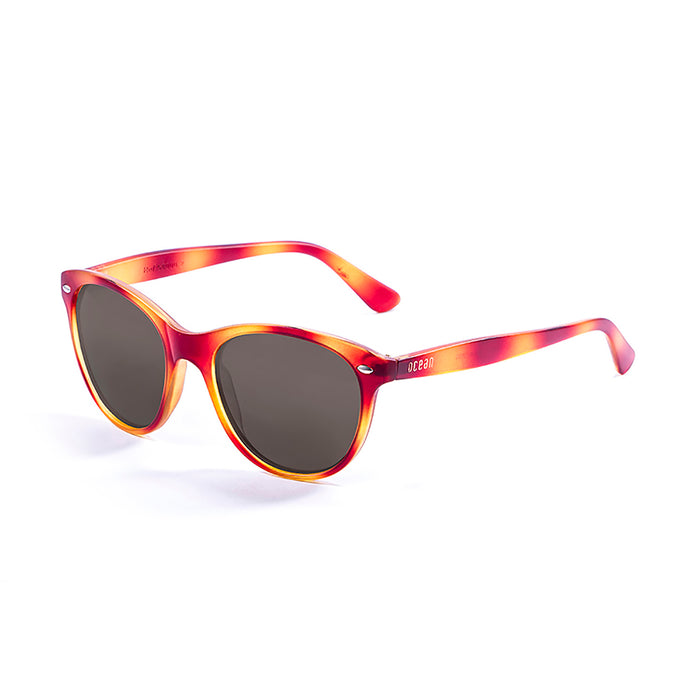 ocean sunglasses KRNglasses model LANDAS SKU 58000.2 with demy orange brown frame and smoke lens
