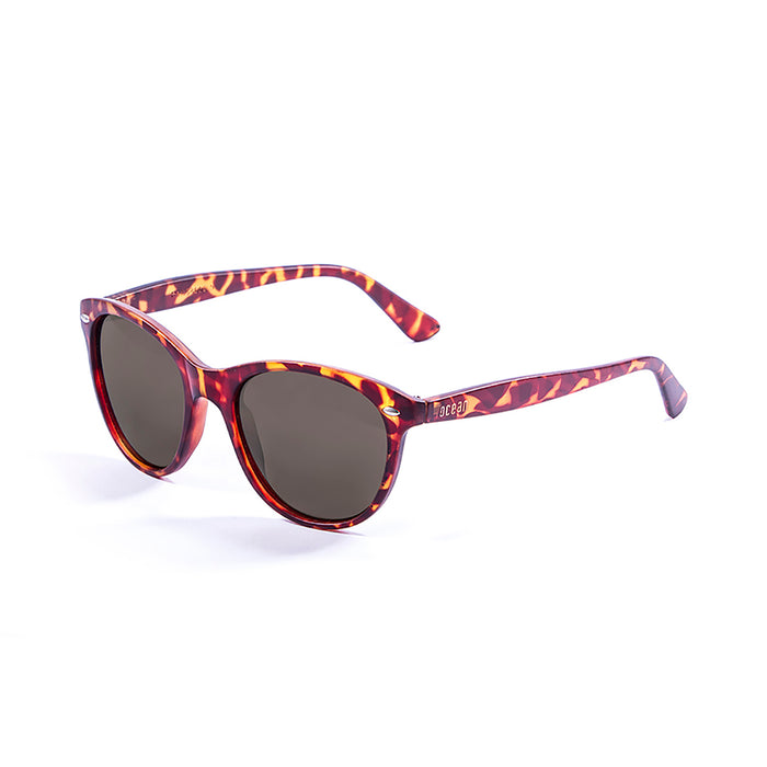 ocean sunglasses KRNglasses model LANDAS SKU 58000.7 with demy grey brown frame and smoke lens