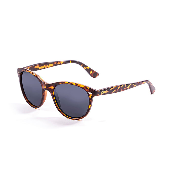 ocean sunglasses KRNglasses model LANDAS SKU 58000.6 with demy brown dark frame and smoke lens