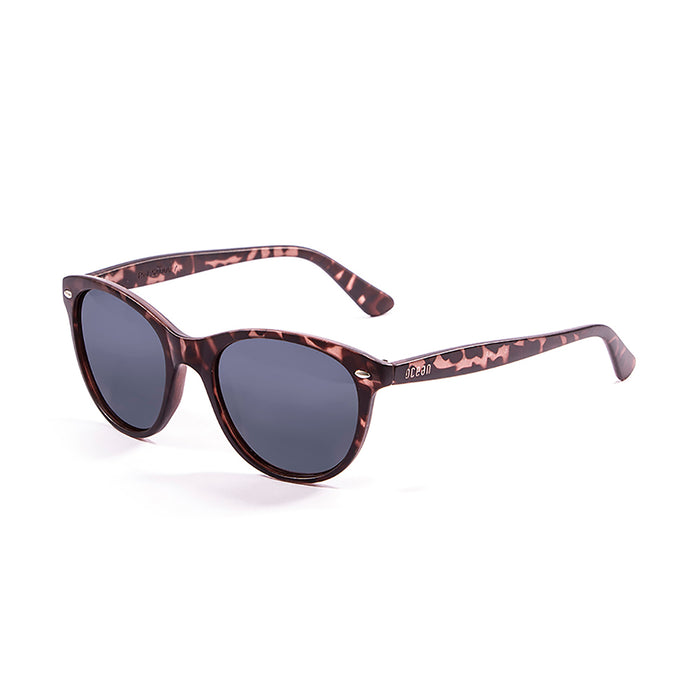 ocean sunglasses KRNglasses model LANDAS SKU 58000.5 with demy brown clear frame and smoke lens