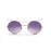ocean sunglasses KRNglasses model CERCLE SKU LE10.0 with gold frame and gray lens