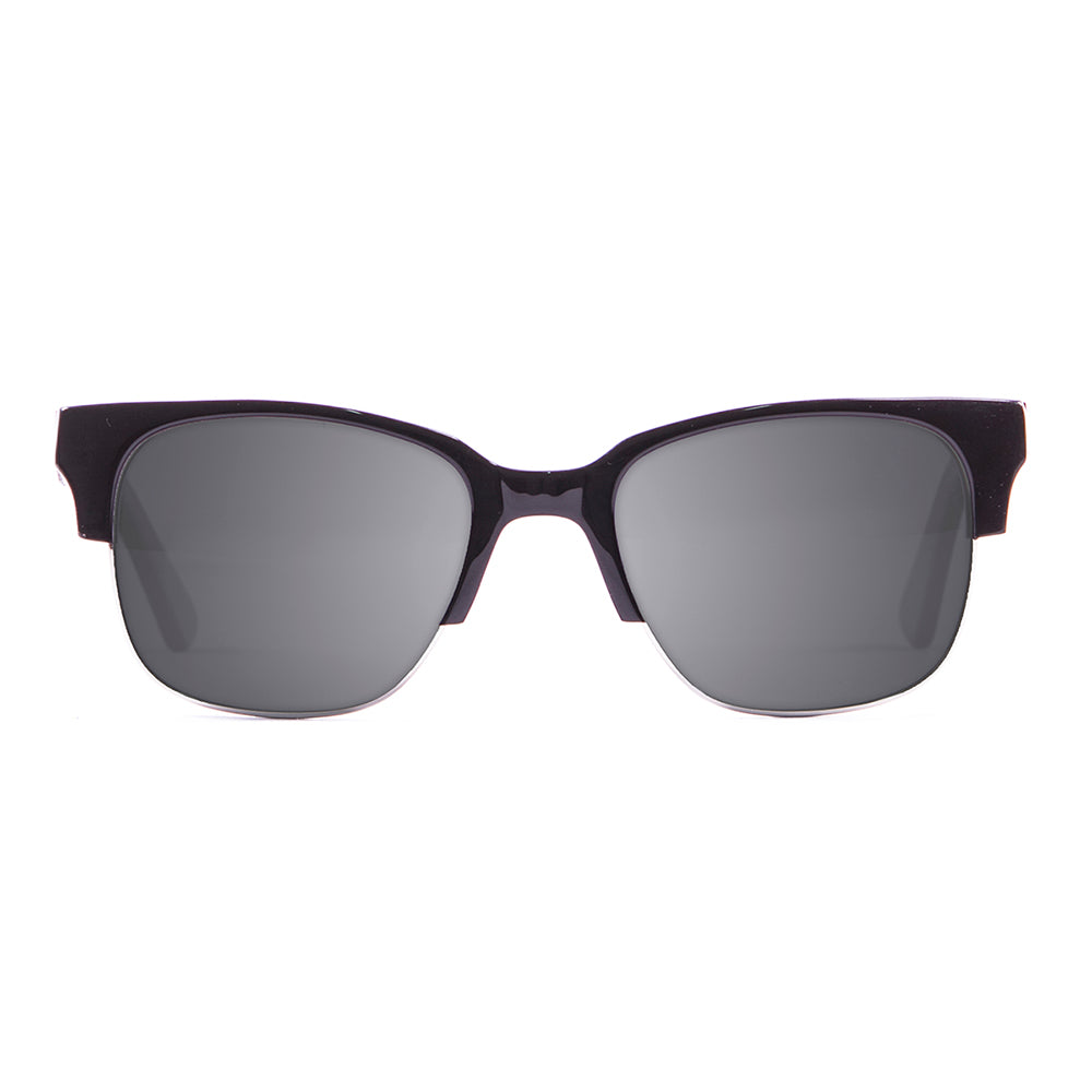 ocean sunglasses KRNglasses model ALEX SKU LE15100.1 with black frame and gray lens