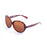 ocean sunglasses KRNglasses model ST SKU L1E5300.96 with ginger transparent frame and smoke lens