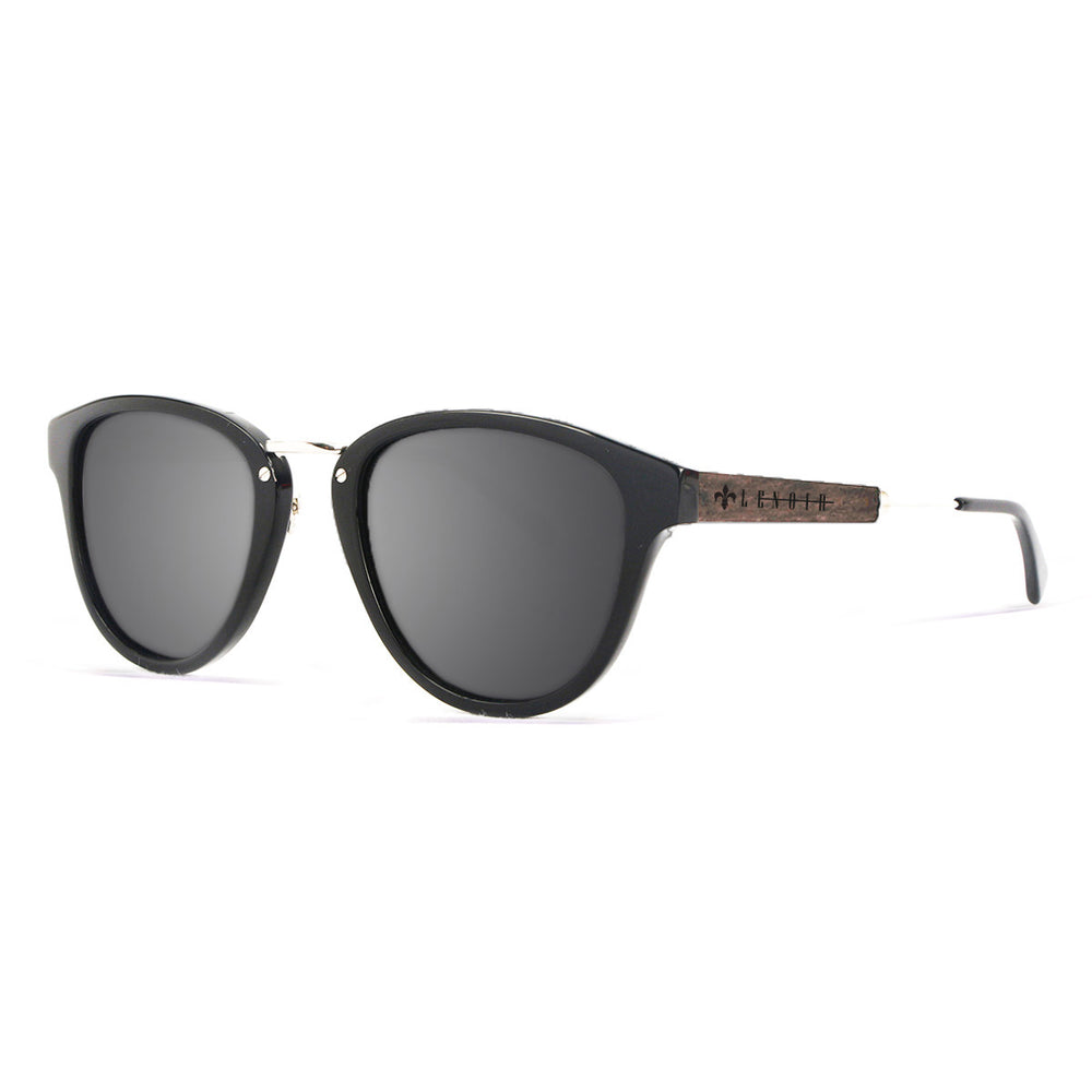 ocean sunglasses KRNglasses model NICOLAS SKU LE16110.1 with black frame and gray lens