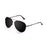 ocean sunglasses KRNglasses model AVIATOR SKU LE18111.1 with black frame and black lens