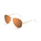 ocean sunglasses KRNglasses model AVIATOR SKU LE18111.6 with gold frame and brown lens
