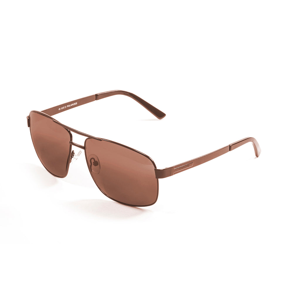 ocean sunglasses KRNglasses model VERSAILLE SKU LE19700.1 with brown frame and smoke lens