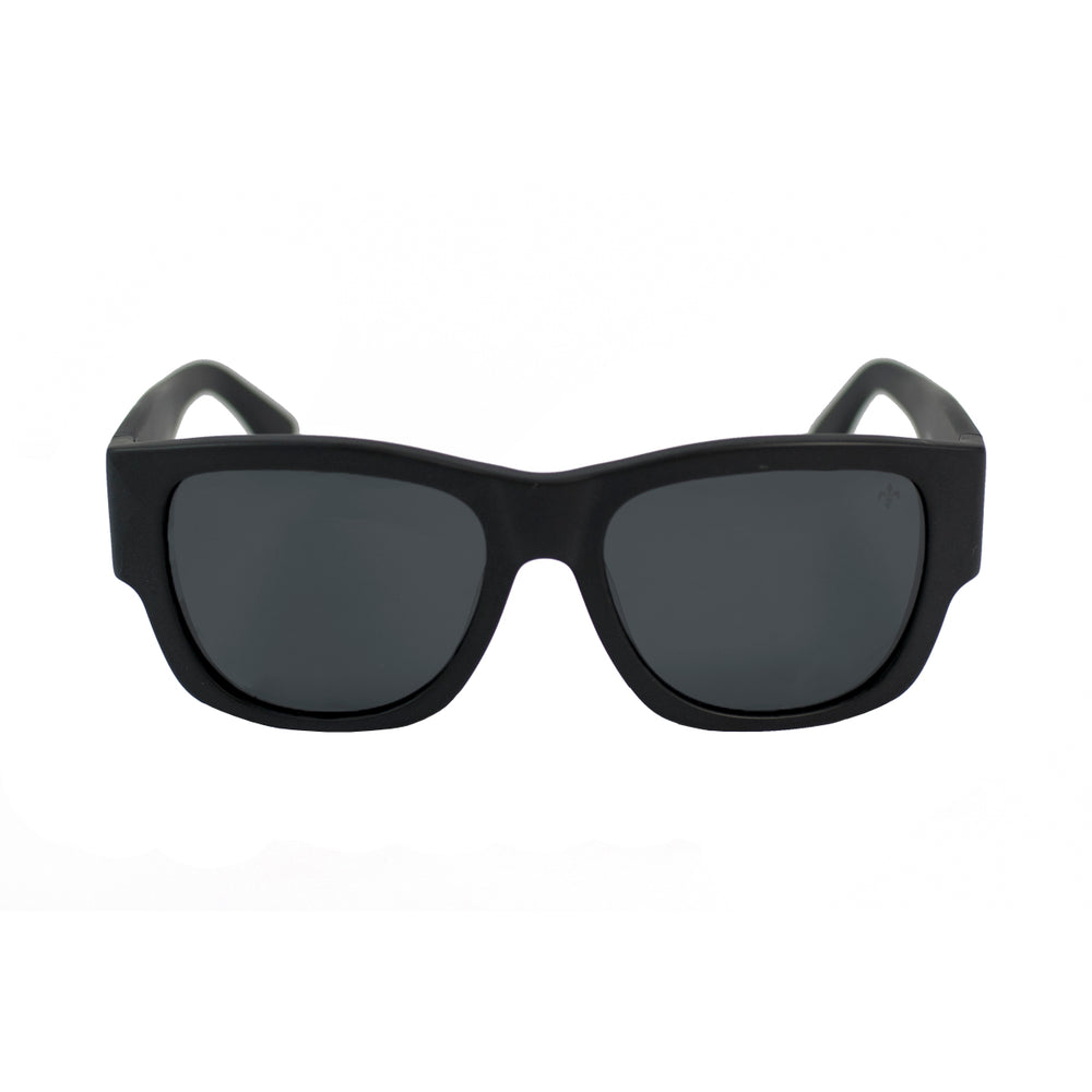 ocean sunglasses KRNglasses model MESRINE SKU LE36928.2 with black frame and smoke lens