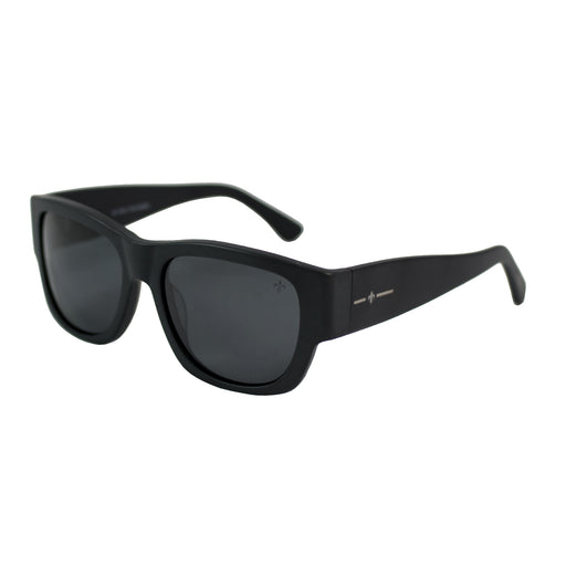 ocean sunglasses KRNglasses model MESRINE SKU LE36928.4 with black frame and gray lens