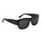 ocean sunglasses KRNglasses model MESRINE SKU LE36928.5 with brown frame and smoke lens