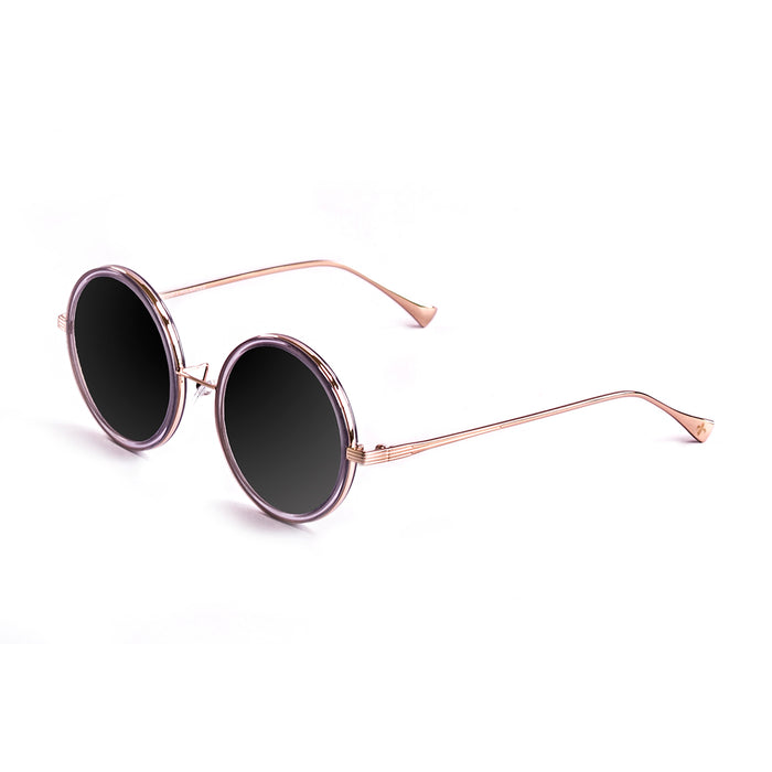 ocean sunglasses KRNglasses model Boucle SKU LE36934.5 with transparent frame and gray lens