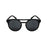 ocean sunglasses KRNglasses model REIMS SKU LE40.4 with transparent frame and blue revo lens
