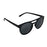 ocean sunglasses KRNglasses model REIMS SKU LE40.6 with amber frame and smoke lens