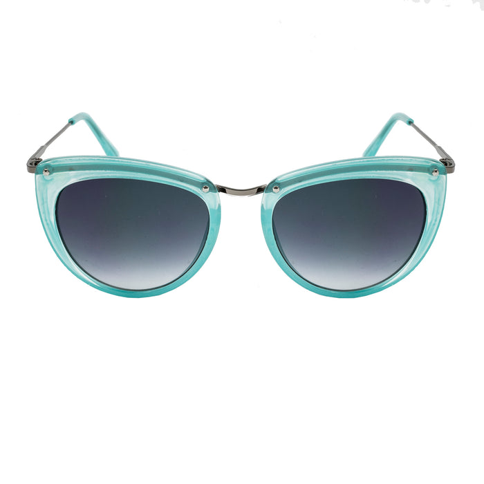 ocean sunglasses KRNglasses model LA SKU LE401.1 with transparent frame and smoke lens