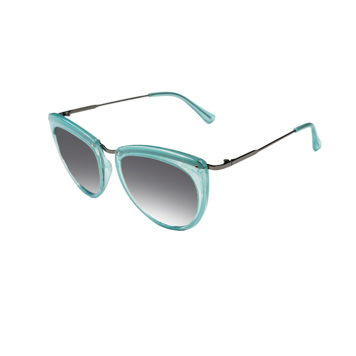 ocean sunglasses KRNglasses model LA SKU LE401.2 with transparent frame and gray lens
