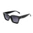 ocean sunglasses KRNglasses model LAURENT SKU LE402.2 with black frame and silver revo lens