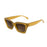 ocean sunglasses KRNglasses model LAURENT SKU LE402.6 with green frame and smoke lens