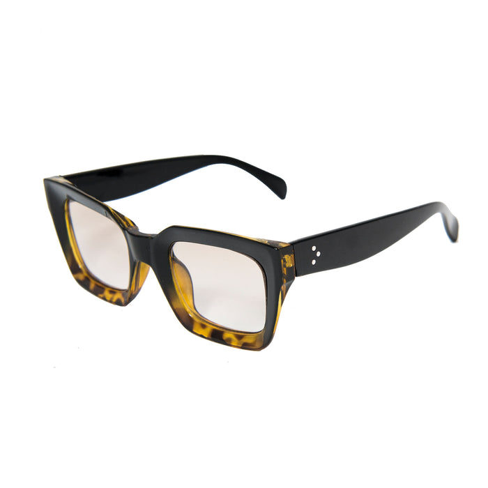 ocean sunglasses KRNglasses model LAURENT SKU LE402.8 with red frame and smoke lens