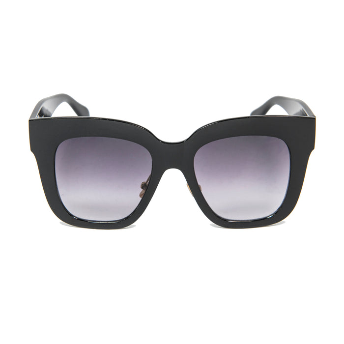 ocean sunglasses KRNglasses model LOUP SKU LE403.2 with black frame and silver revo lens