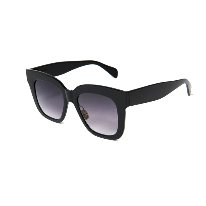 ocean sunglasses KRNglasses model LOUP SKU LE403.3 with white frame and smoke lens